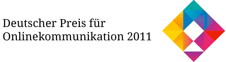 Deutscher Preis für Onlinekommunikation 2011 Logo
