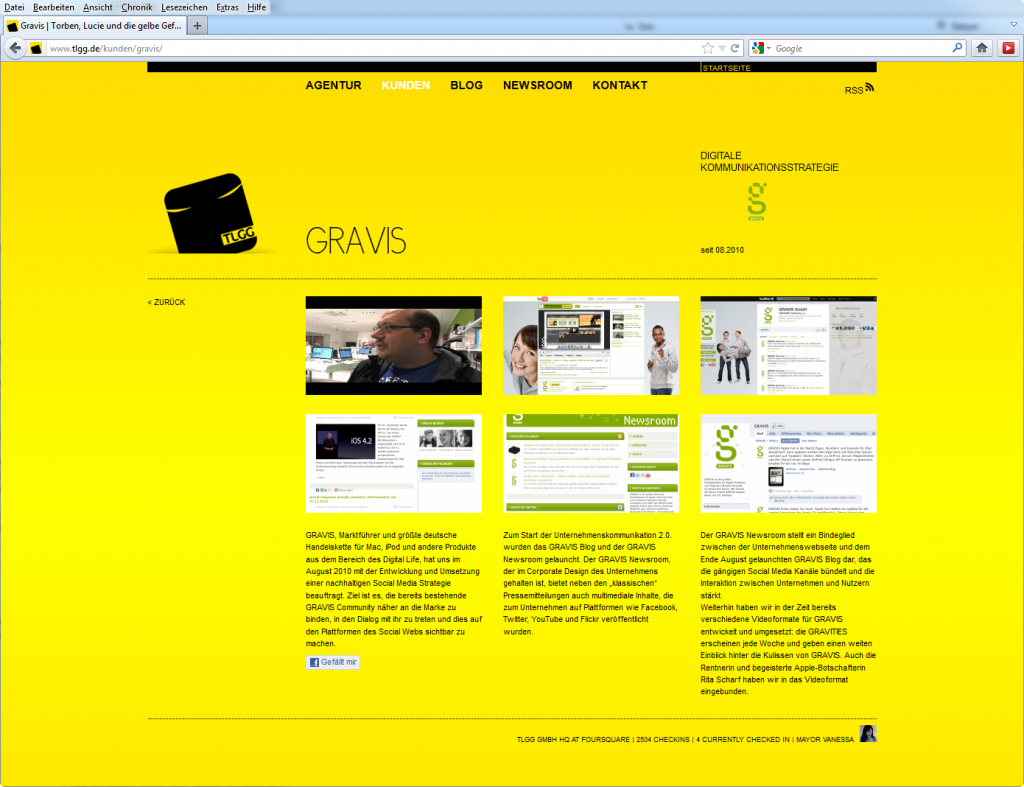 Screenshot tlgg.de: Gravis Kundenseite; © TLGG