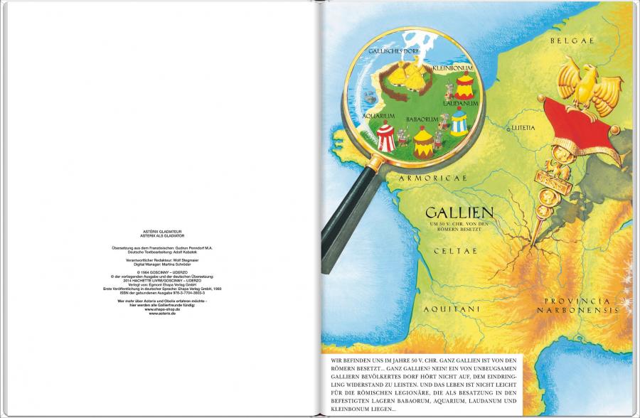 Impressum eines Asterix eBooks