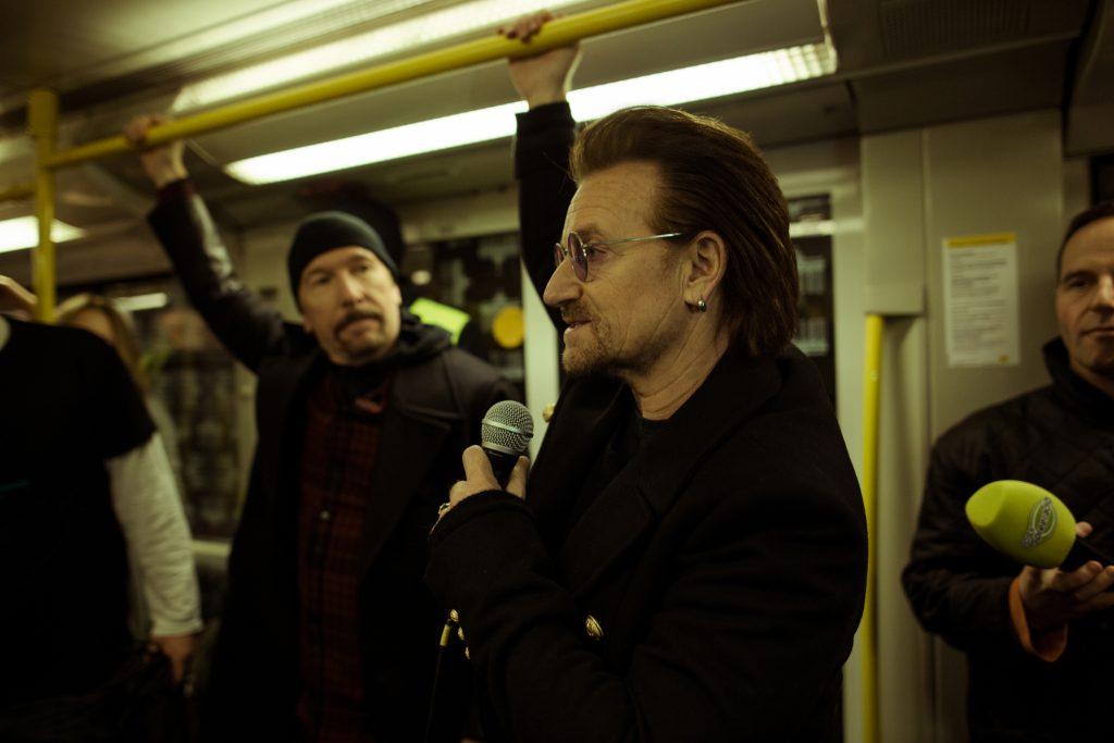 Bono und The Edge in der U2 // ©Philipp Gladsome